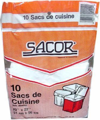 A146 : Sacor A146 : Produits ménagers - Sacs à ordures - Sac 20x22 Int SACOR, SAC 20X22 INT, 24X10UN