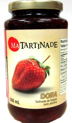 C731 : Dora C731 : Déjeuner et collations - Tartinades - Conf.fraises (ma Tartinade) DORA,CONF.FRAISES (ma tartinade),12X500ML