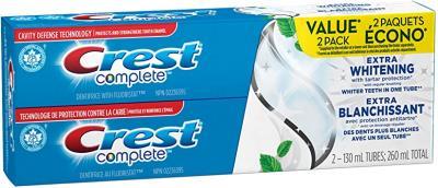 CA30140 : Crest comp. CA30140 : Hygiène et santé - Hygiène dentaire - Dentifrice Extra Blanch. CREST COMP.,DENTIFRICE extra blanch.,pack 6 (2 x 130 ML)