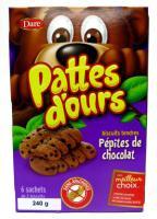 CB442 : Pattes D'ours Pepites Choc. 12 X 240g